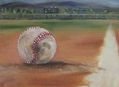 Baseball Paintings - HW Field  by Lindsay Frost