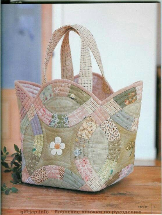 Quilting Patterns For Bags : Double wedding ring bag Quilted bags, bins and totes Pinterest Wedding, Wedding ring and ...