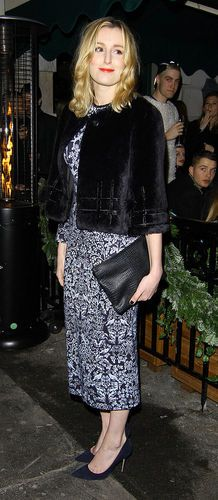Laura Carmichael in HONOR Fall 2014 at the LOVE Magazine Christmas Party, London.