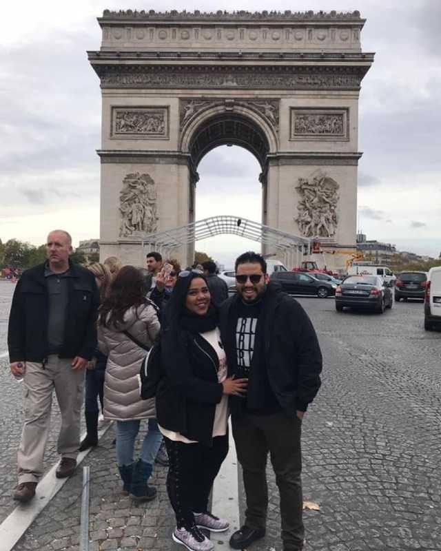 صور شيماء سيف وزوجها في شهر العسل في باريس