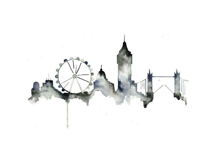 London Skyline by Kelsey McNatt for Minted