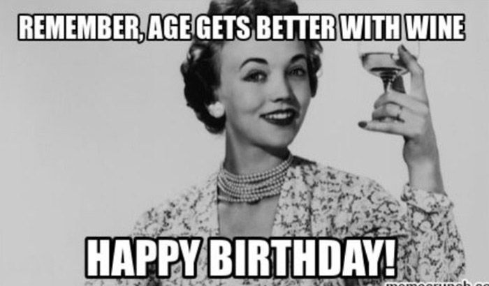 Happy Birthday Meme For Her Classy Woman Funny Happy Birthday Meme Happy Birthday Wine Happy Birthday Funny