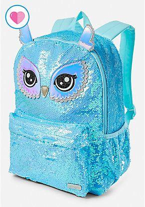 Owl Flip Sequin Backpack  49ee4331870e6