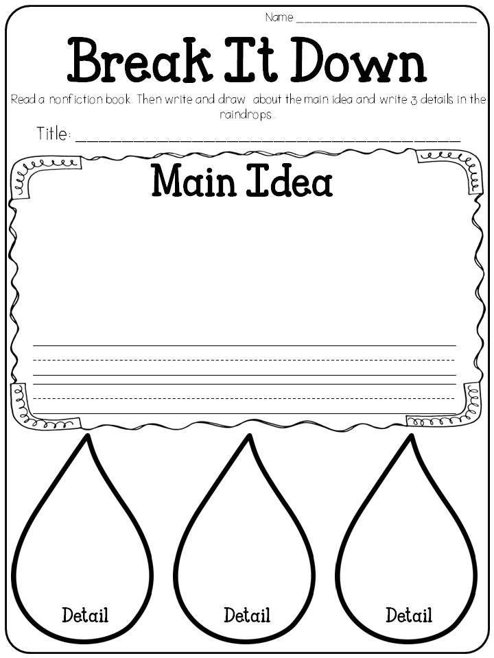 Decisive image intended for main idea graphic organizer printable