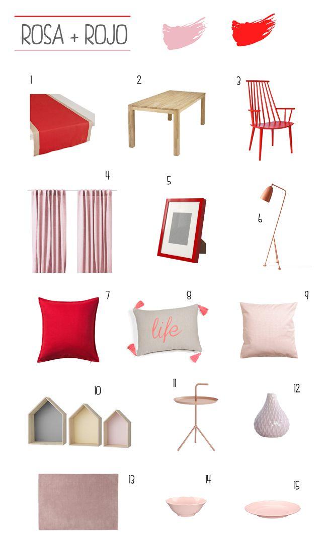 Decoraci n en rojo y rosa estilo escandinavo for Accesorios decoracion hogar