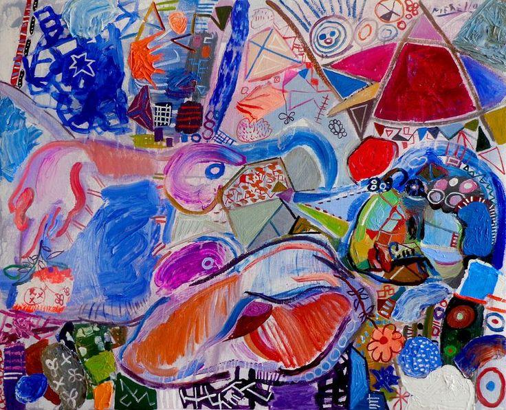 "Super ART CONTEMPORAIN ET MODERNE. José Manuel Merello.- ""Mujer canaria  QU22"