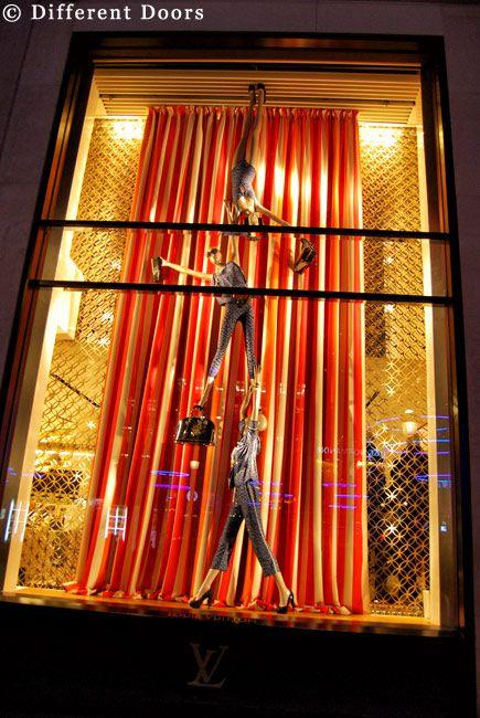 Louis Vuitton shop window Champs Elysees Winter 2011