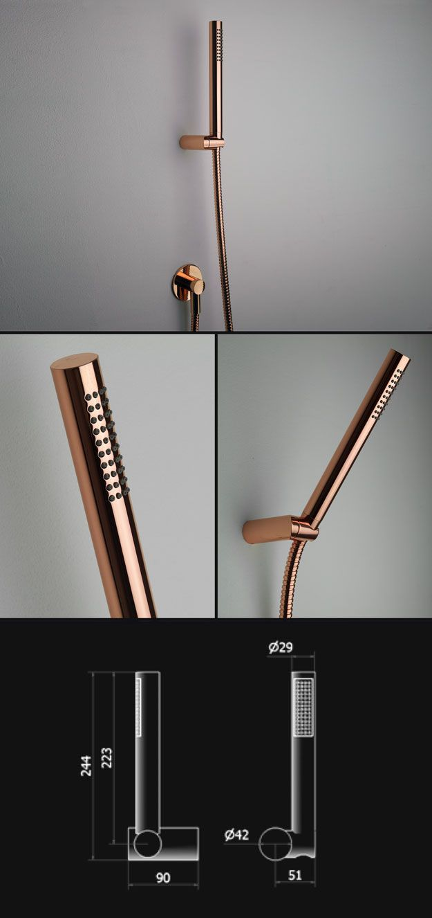 Copper Wall Mounted Douche Shower Head