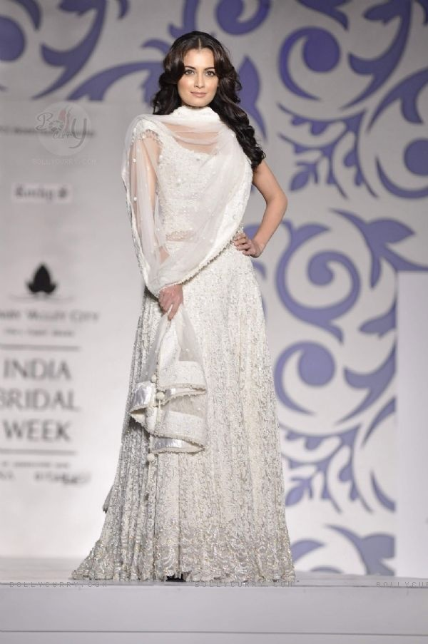 Ethereal: Dia Mirza @deespeak in @RockyS_STAR http://www.rocky-s.com/ Lehenga @ @Aamby_Valley India Bridal Week #AVIBFW 2010