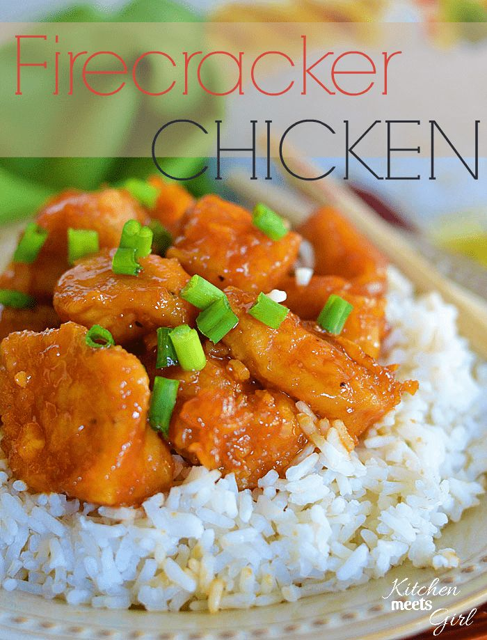 This Firecracker Chicken is the perfect mix of spicy and sweet and beats take-out hands down!