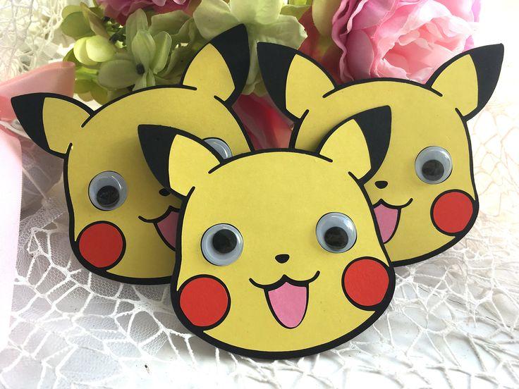 Pikachu Birthday Party Invitation, Pokemon party invitation, Pikachu theme party, Handmade Birthday invitations, SET OF 10 Invitations by DreamCraftbyLucy on Etsy