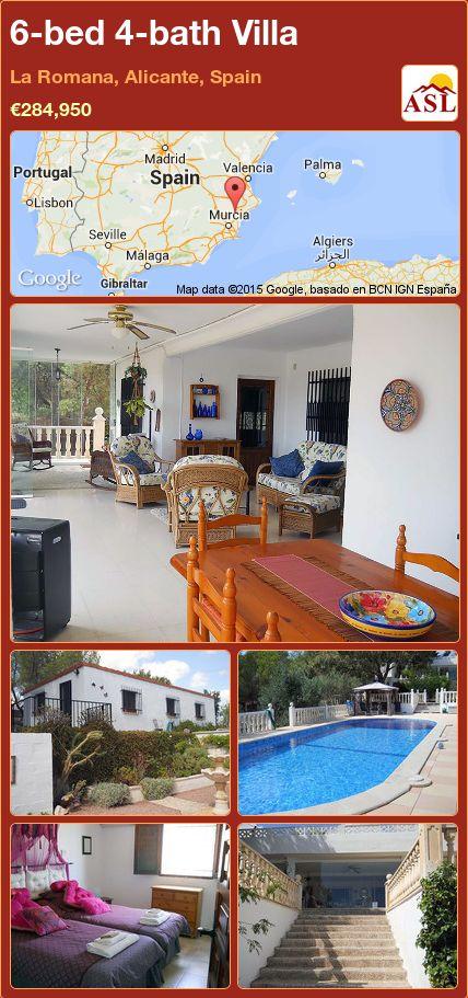 6-bed 4-bath Villa in La Romana, Alicante, Spain ►€284,950 #PropertyForSaleInSpain