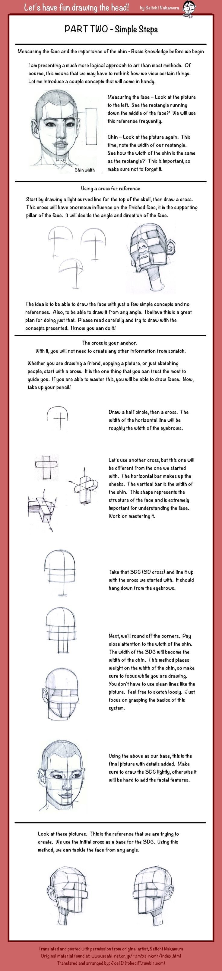DRAWING THE HEAD 2: Simple Steps by Seiichi Nakamura & Joel D http://tobediff.tumblr.com