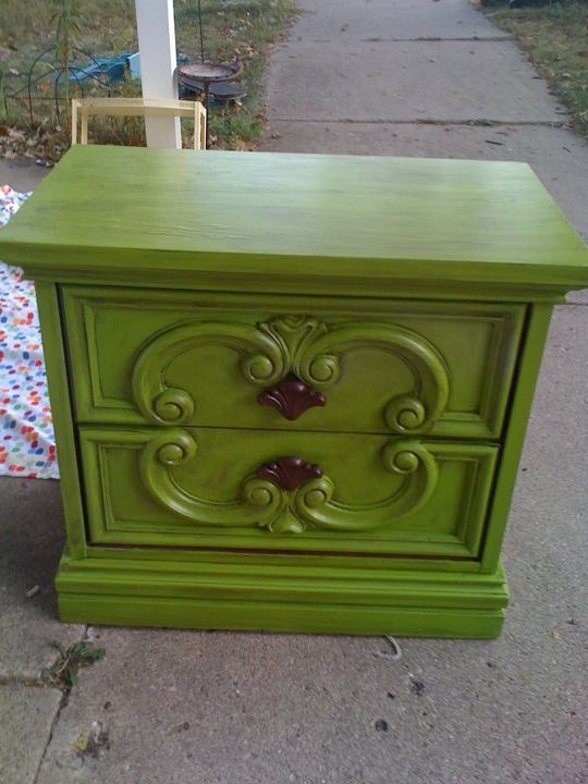 Garage Sale Nightstand Makeover Home Decor Furniture Ideas Pinterest Nightstands