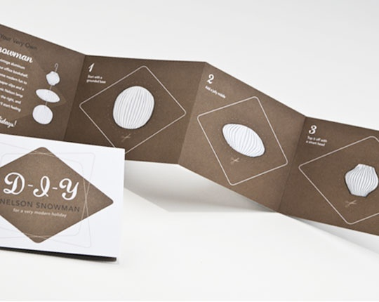 fold out of diy nelson snowman holiday card