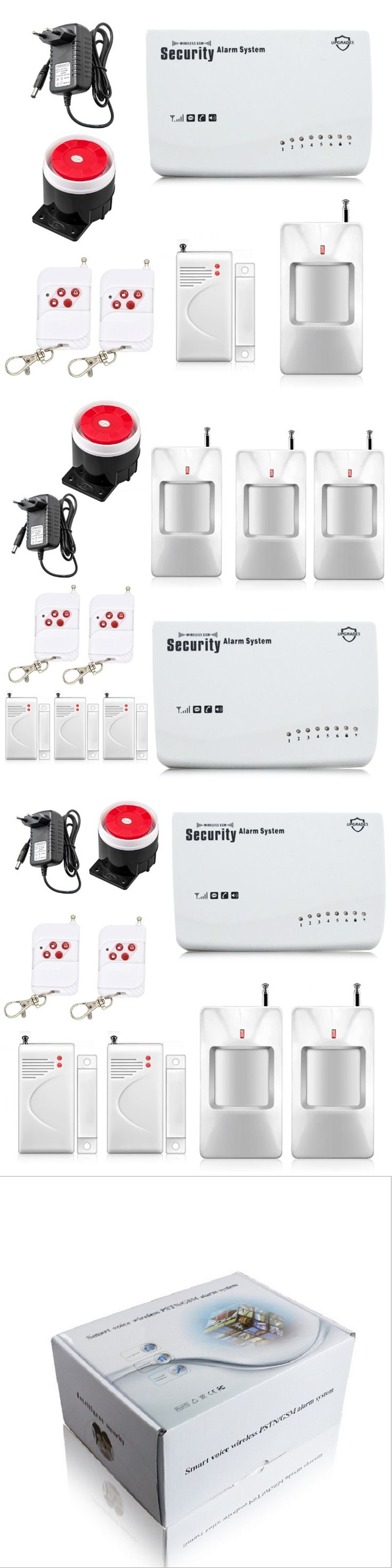 Free Shipping Wireless GSM Alarm System Security Home Alarm English Voice with PIR detector SMS Call Remote Control Setting