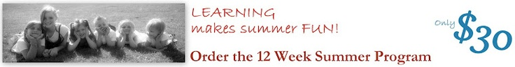 An awesome 12 week summer learning program... only $30 for 12 weeks, over 240 activities, all designed with a busy mom/caretaker in mind.  The activities are intended to require little more than what you'd find around the home, and not require constant guidance.      This program is perfect for children between the ages of 4-9, and all of the activities can be easily modified so you can share them with a group of kids at different ages and abilities.  Give the gift of summer learning AND…