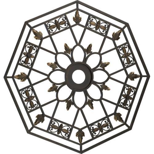 Quorum Oiled Bronze Marcela Transitional 33 Diameter Octagonal Ceiling Medallion