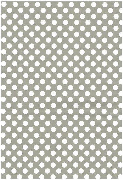 Tischdecken - Wachstuch Tischdecke Meterware Punkte grau - ein Designerstück von kevkus bei DaWanda