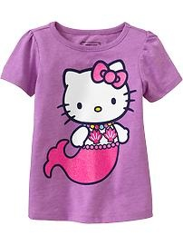 Love this Hello Kitty mermaid tee!  Available at the Old Navy Canada kid & baby sale (Feb 7-20)!  #ONKidtacular