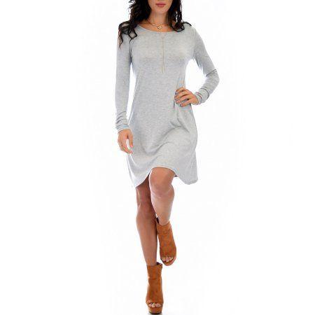 Lyss Loo Women's Shift & Shout Long Sleeve Tunic Dress