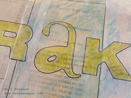 Art Journaling Prompt: Memorabilia. Art journal by Sara Naumann. www.saranaumann.com  Sara Naumann Blog | Sara Naumann: Studio SN