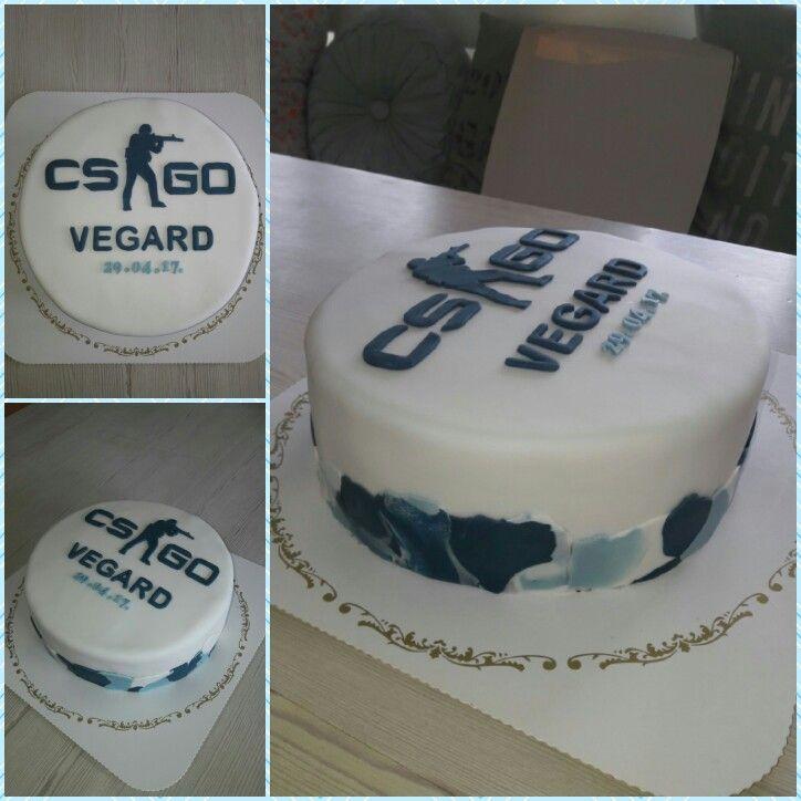 CS go! Cake blue camo