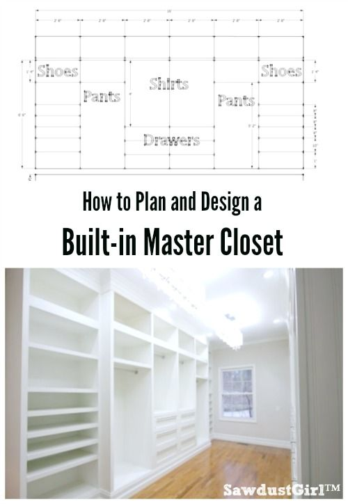 How to plan and design a built-in master closet!