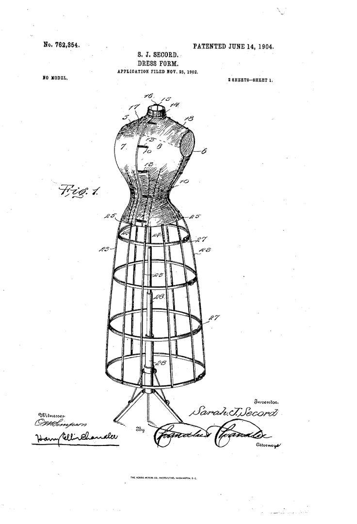 1904 patent us762354 - dress-form