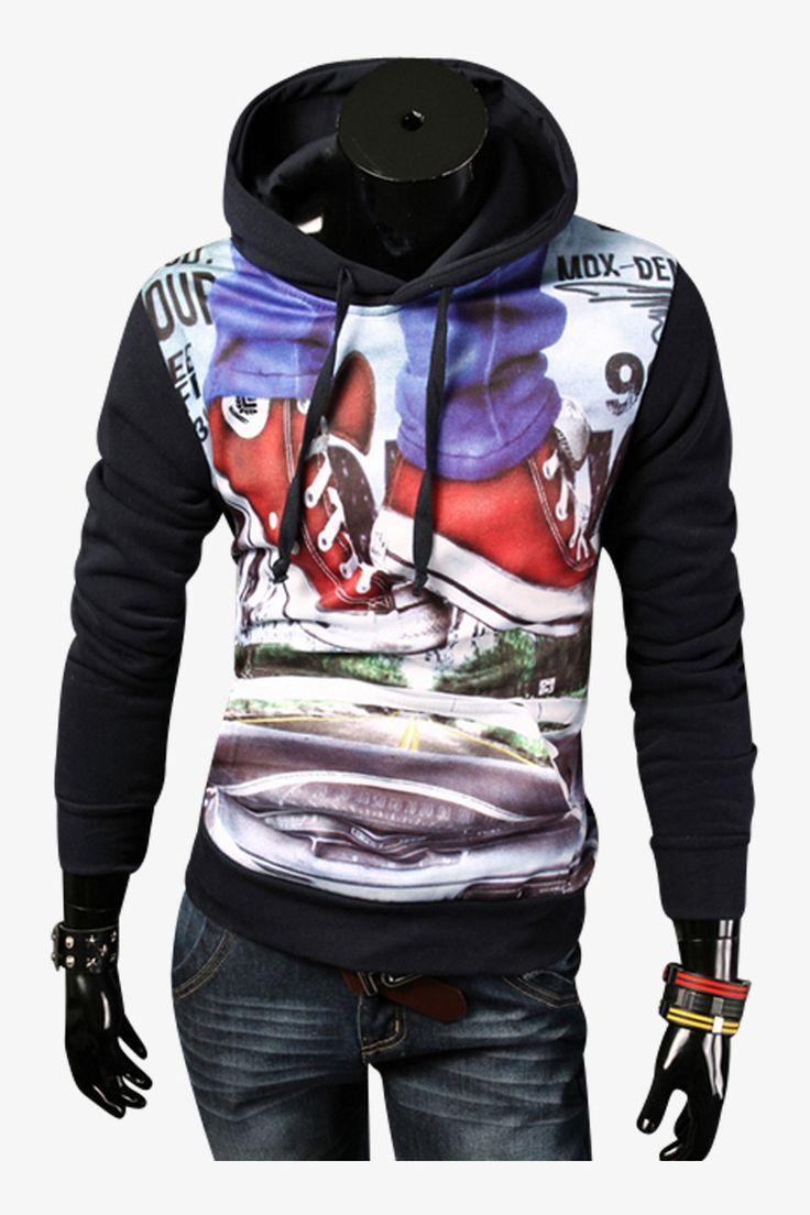 G.E. Smith Hoodied Sweatshirt In Navy
