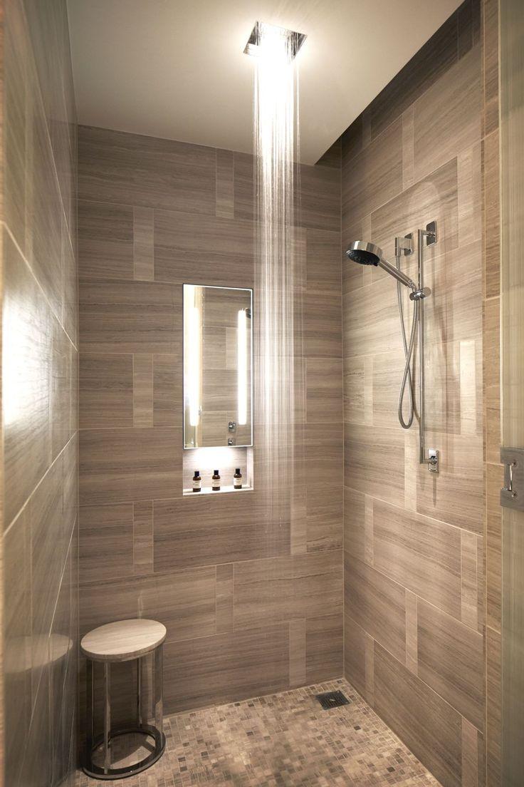 Wood Tile Shower Bench