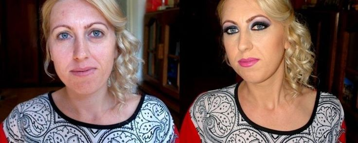 Before & After Ana Olariu make-up