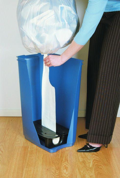 ゴミ袋をサッとチェンジ! ディスペンサー付きゴミ箱【Trash Bag Dispenser】