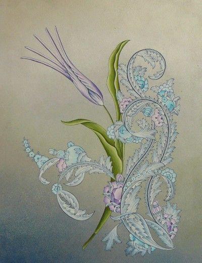 Laleli Sazyolu ( Akrilik üzerine guaj 18x24 cm )-Emine Süsoy