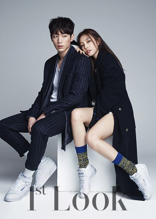 "Kara's Goo Hara & Seo Kang Joon in ""Beauty and Youth"" for 1st Look Magazine Vol.80. Photographed by Kim Young Joon"