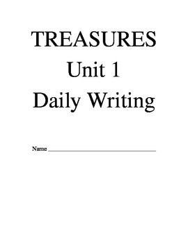 This is a writing packet that goes with the Treasures reading series for 3rd grade, Unit 1. Each writing prompt is included. Week