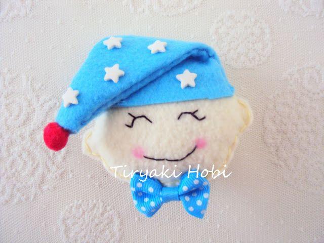 ♥ Tiryaki Hobi ♥: Keçe bebek şekeri / magnet - Uykucu bebek