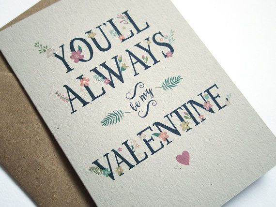 You'll Always Be My Valentine Card by STNstationery on Etsy