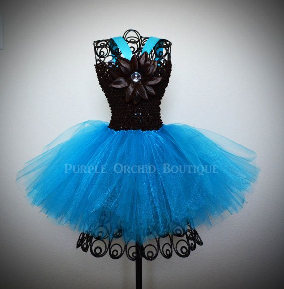 Dark Brown and Turquoise Tutu Dress by PurpleOrchidBoutique, $24.99..... would be cute in purple @Nicole Casterline