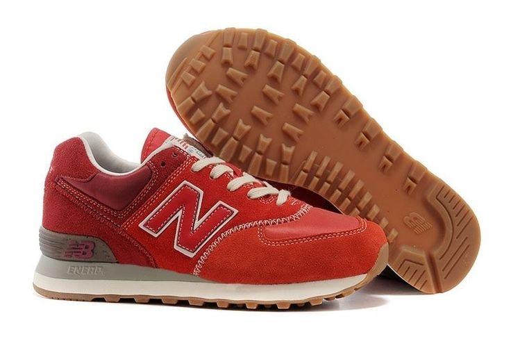 Женские красные кроссовки Нью Баланс  574
