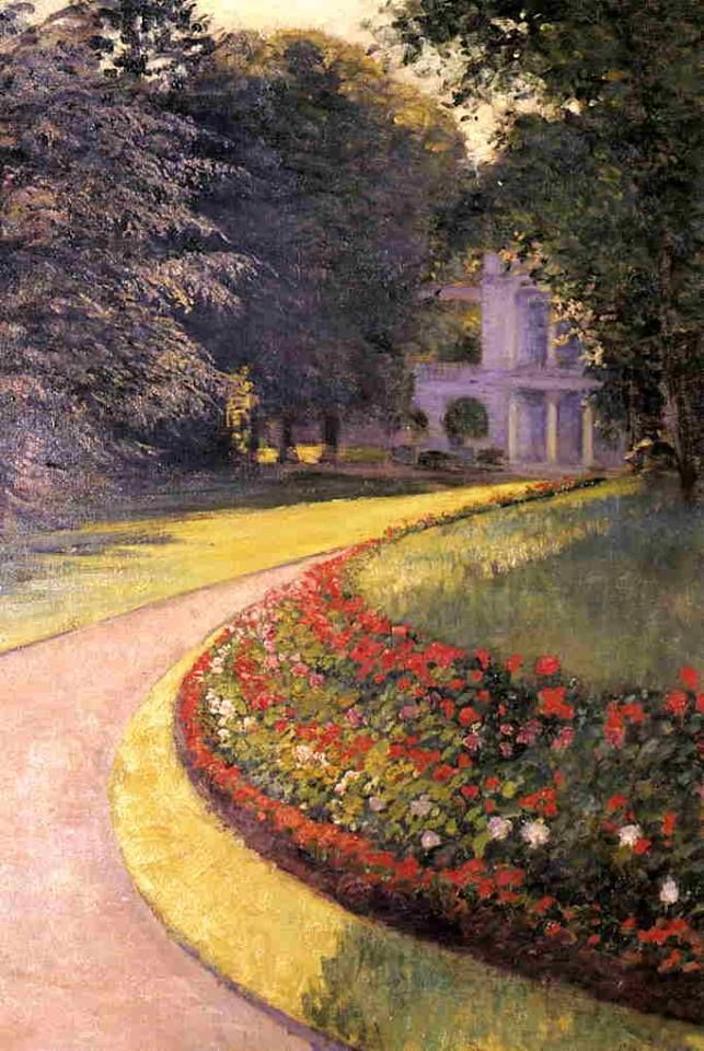 The Park at Yerres, 1877 by Gustave Caillebotte