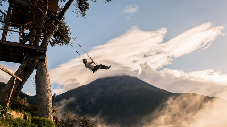 Take a quick mental vacation with this video of the swing at the end of the world in Ecuador.