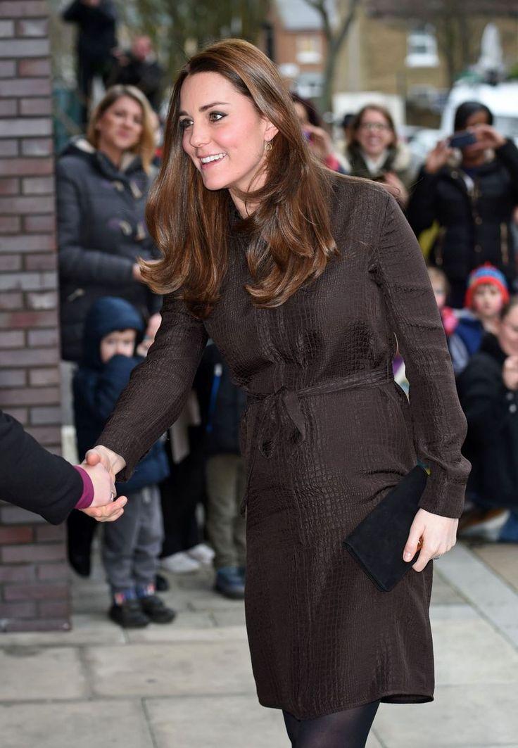 Catherine Duchess of Cambridge visits The Fostering Network, Highbury, London, Britain - 16 Jan 2015