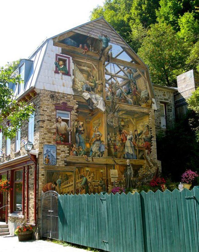 Street Art  So many more picsWall Art, 3D Street Art, Quebec Cities, Street Art Utopia, Wall Murals, Wall Painting, Painting House, Art Painting, Streetart