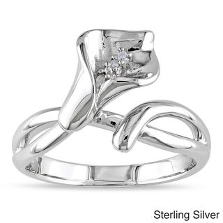 @Overstock.com -  Miadora Sterling Silver Diamond Calla Lily Flower Ring (G-H, I1-I2) - Round white diamond flower ringSterling or rosetone silver jewelryClick here for ring sizing guide  http://www.overstock.com/Jewelry-Watches/Miadora-Sterling-Silver-Diamond-Calla-Lily-Flower-Ring-G-H-I1-I2/7286565/product.html?CID=214117 $46.40