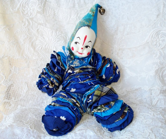 Vintage Yoyo Clown Doll Mid Century by GreenleeAndVine on Etsy, $18.00