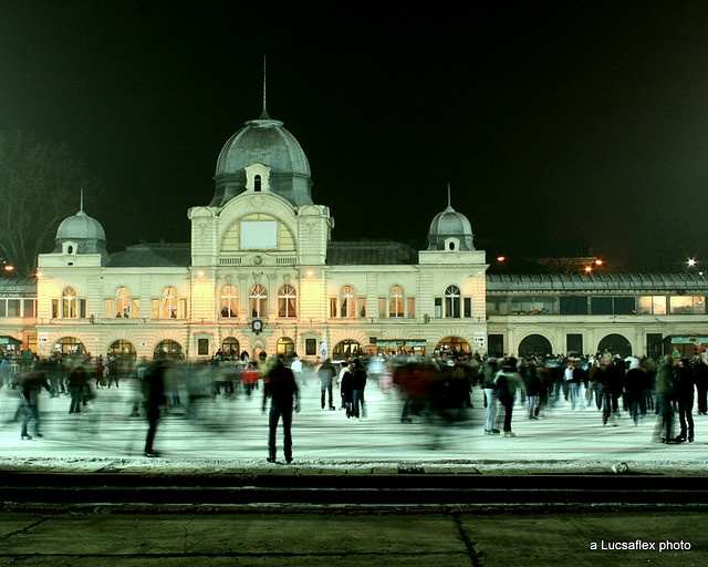 Budapest, ice skating rink in the City park- my favourite winter sport!