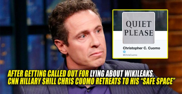 "After Being Called Out for LYING About Wikileaks, CNN's Chris Cuomo Retreats to His ""Safe Space"" (10/18/16)"