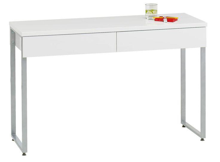 Skrivbord STEGE vit högglans | JYSK