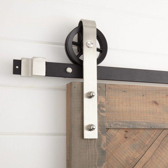 Ando Barn Door Hardware In Stainless Steel